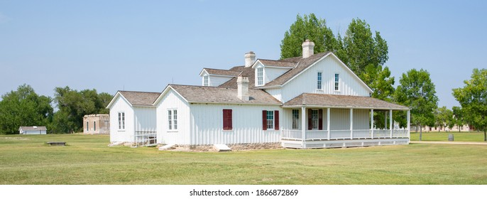 Fort Laramie National Historical Site in Wyoming, USA, build 19th century