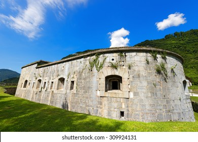 Fort Larino - First World War / Fort Larino (1860) in Lardaro, Trentino, Italy. Austro Hungarian fortress of first world war built in Chiese Valley