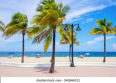 Fort Lauderdale beach in Florida on a beautiful summer day