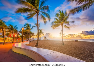 Fort Lauderdale Beach, Florida, USA at dawn.