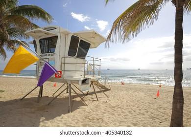 Fort Lauderdale Beach lifeguard tower