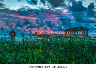 Fort Lauderdale Boca Raton Miami Anglins Commercial Pier at Sunrise