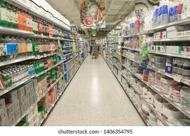 Fort Lauderdale, FL, 5/15/2019: People are shopping at a Publix supermarket.