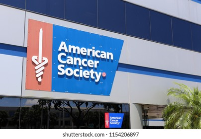 FORT LAUDERDALE, FL, USA - APRIL 25: An office of the American Cancer Society in Fort Lauderdale, Florida on April 25, 2018. ACS is an American organization dedicated to eliminating cancer.