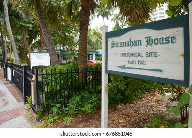 FORT LAUDERDALE, FL, USA - DEC. 26, 2014: Stranahan House in Fort Lauderdale downtown, Florida, USA. This building is a National Register of Historic Places since 1973.