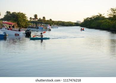 Fort Lauderdale, FL, USA - DECEMBER 25, 2017: Beautiful nature in Dr Von D. Mizell-Eula Johnson State Park near Miami, Florida