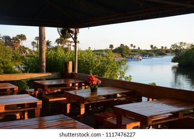 Fort Lauderdale, FL, USA - DECEMBER 25, 2017: Restaurant in Dr Von D. Mizell-Eula Johnson State Park near Miami, Florida