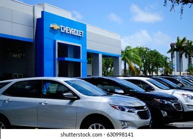 Fort Lauderdale Florida April 29 2017 : Chevrolet Automobile Dealership. Chevrolet is a Division of General Motors