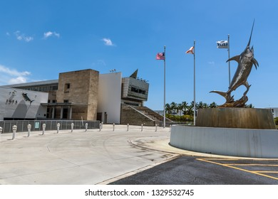 FORT LAUDERDALE, FLORIDA - JULY 7 - A scenic view of the IGFA Fishing Hall of Fame and Museum on July 7 2018 in Fort Lauderdale Florida
