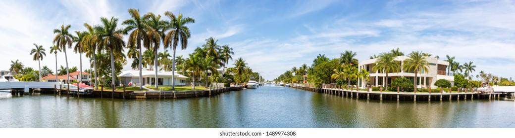 Fort Lauderdale Florida Las Olas downtown panorama panoramic view city marina boats boat