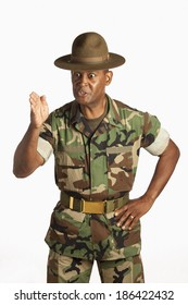 Fort Lauderdale, Florida, United States Of America; A Military Man Giving Orders