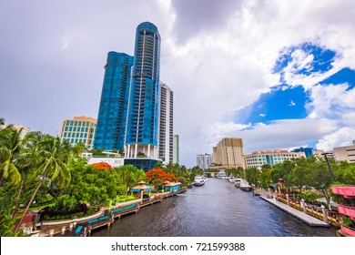 Fort Lauderdale, Florida, USA cityscape at the Riverwalk.