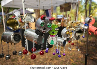 FORT LAUDERDALE, FLORIDA, USA - DECEMBER 4:  Recycled metal material used to make adorable animal art on display at the Bonnet House Orchid Show on December 4, 2016