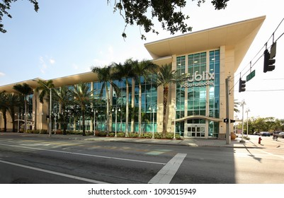 FORT LAUDERDALE, FLORIDA, USA - MAY:  Three story modern Publix Super Market at Las Olas, located at the corner of 6th Street and Andrews Avenue in downtown Fort Lauderdale as seen on May 7, 2018.
