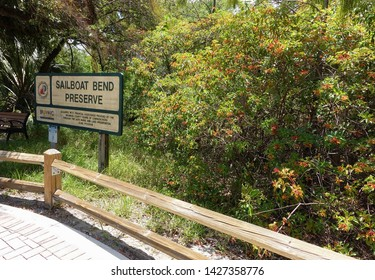 FORT LAUDERDALE, FLORIDA, USA - MAY:  Broward County Safe Parks and Land Preservation Bond Program provides open space to the city's residents such as Sailboat Bend Preserve as seen on May 30, 2019.