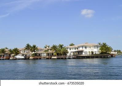 Fort Lauderdale, Florida, USA - May 26, 2017 : Fort Lauderdale intercoastal waterway