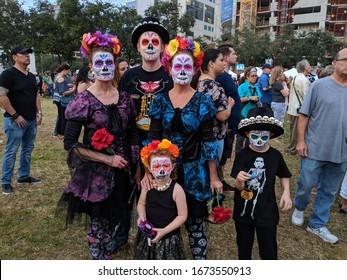 Fort Lauderdale, Florida / USA - November 2, 2018: Day of the Dead Celebration