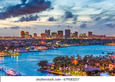 Fort Lauderdale, Florida, USA skyline.