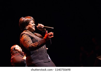 Fort Lauderdale, Florida/USA - July 15, 2018: Pastor Shirley Caesar on stage at the Broward Center for the Performing Art in Broward County, Florida.