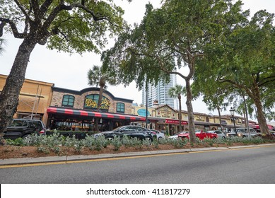 FORT LAUDERDALE, USA - MARCH 24, 2016: Las Olas Boulevard, street view.
