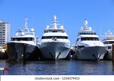 FORT LAUDERDALE,FL, USA - NOVEMBER 6, 2017: 2017 Fort Lauderdale International Boat Show: Bahia Mar Yachting Center