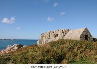 Fort le Marchant above Lâ??Ancresse Bay, Guernsey