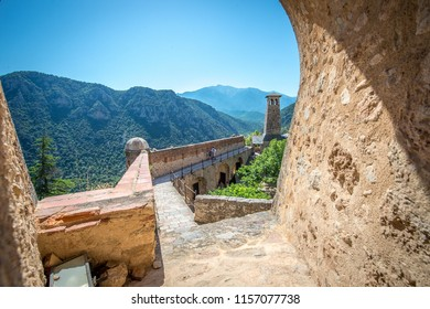 Fort Liberia is located in the municipality of Villefranche-de-Conflent in the department of Pyrénées-Orientales. It was built by the architect Vauban in 1681.