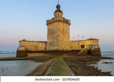 Fort Louvois at low tide, Charente-Maritime, France