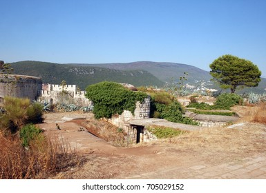 Fort Mamula on an uninhabited islet in the Adriatic Sea, Montenegro