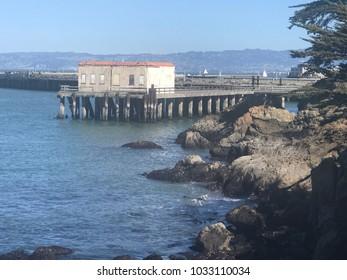 Fort Mason pier on sunny day