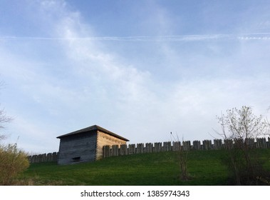 Fort Meigs blockhouse in spring
