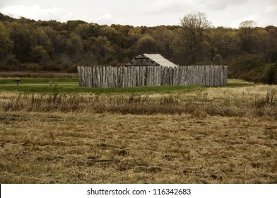Fort Necessity (reconstructed) - Fort Necessity National Battlefield Park - near Farmington, Pennsylvania