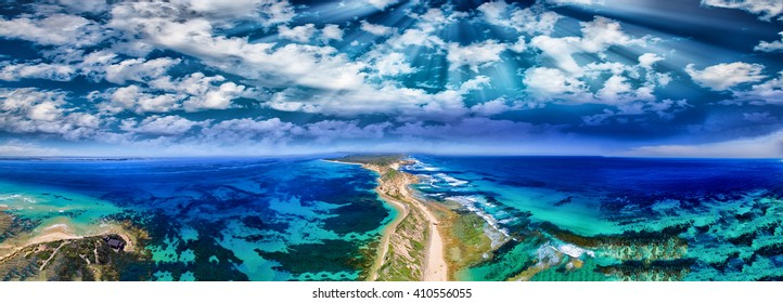 Fort Nepean road as seen from helicopter, Australia.