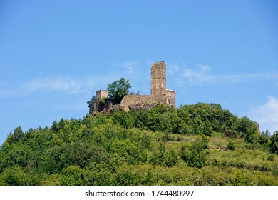 Fort on top of hill in Saint Cere in the Lot department in southwestern France