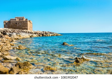 Fort at Paphos harbour, Cyprus