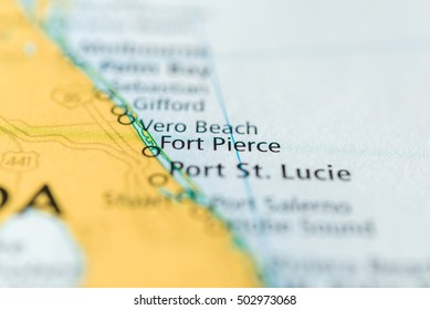 Map Of Fort Pierce Florida.Angleton Texas Usa Stock Photo Edit Now 385986808 Shutterstock