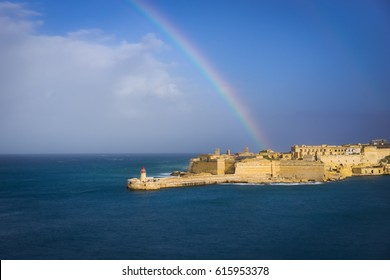 Fort Ricasoli and Breakwater with the lighthouse, Grand Harbour, Malta