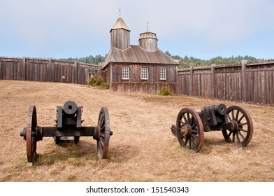 Fort Ross Yard and Cannons