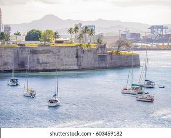 Fort Saint Louis in Fort-de-France Bay, Martinique, West Indies