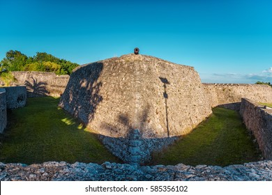 The fort of San Felipe in Bacalar Lagoon Mexico