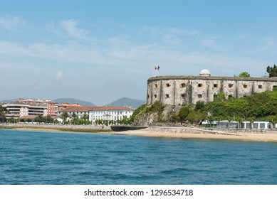 Fort of San Martin, Santoña, Cantabria, Spain, seen from the sea.