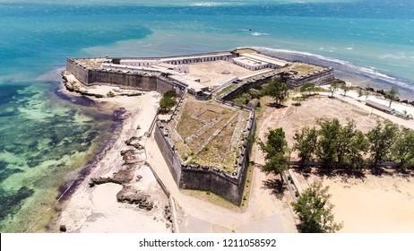 Fort São Sebastião (San Sebastian, Sao Sebastiao), Mozambique island (Ilha de Mocambique), Indian ocean coast, Moçambique. Mozambique Channel, Mossuril Bay, Nampula Province.  Portuguese East Africa