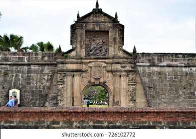 Fort Santiago in Manila, Philippines on January 31, 2015. Fort Santiago was built in the year 1571 and one the oldest fortifications in Manila. It is part of Manila's Walled City called Intramuros.