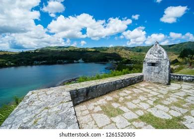 Fort Soledad over Umatac Bay, Guam, US Territory, Central Pacific
