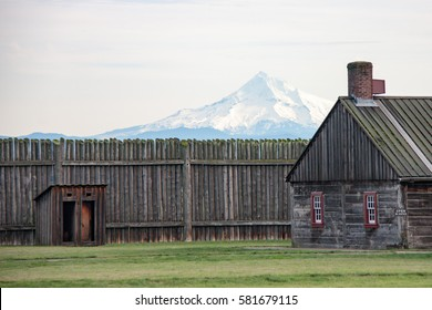 Fort Vancouver, Washington with Mt. Hood as a backdrop.