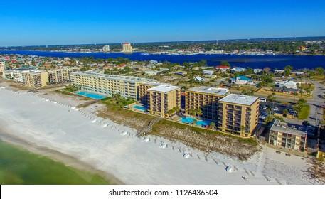 Fort Walton Beach aerial view, FL.