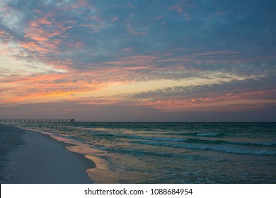 Fort Walton Beach, FL pink and blue sunrise