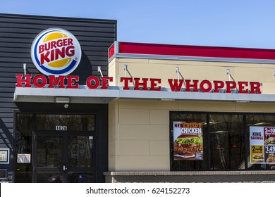 Fort Wayne - Circa April 2017: Burger King Retail Fast Food Location. Every day, more than 11 million guests visit Burger King III