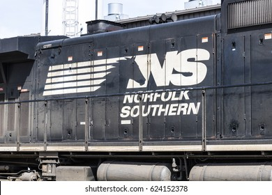 Fort Wayne - Circa April 2017: Norfolk Southern Railway Engine Train. NS is a Class I railroad in the US and is listed as NSC VI