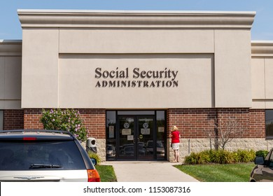 Fort Wayne - Circa August 2018:  Local Branch of the Social Security Administration. The SSA administers retirement, disability, and survivors benefits I